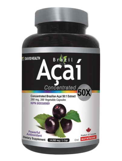 Brazil Acai 50x Concentrated 280 mg 50 Capsules