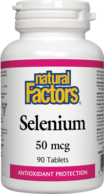 Natural Factors Selenium Chelate 50 mcg 90 Tablets