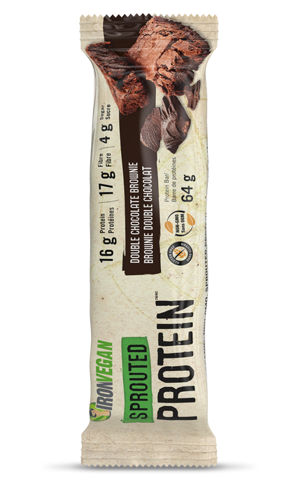 Iron Vegan Sprouted Protein Bar Double Chocolate Brownie
