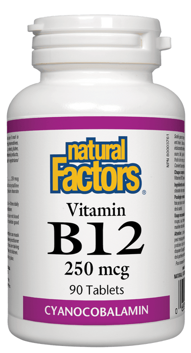 Natural Factors B12 - 250 mcg 90 Tablets
