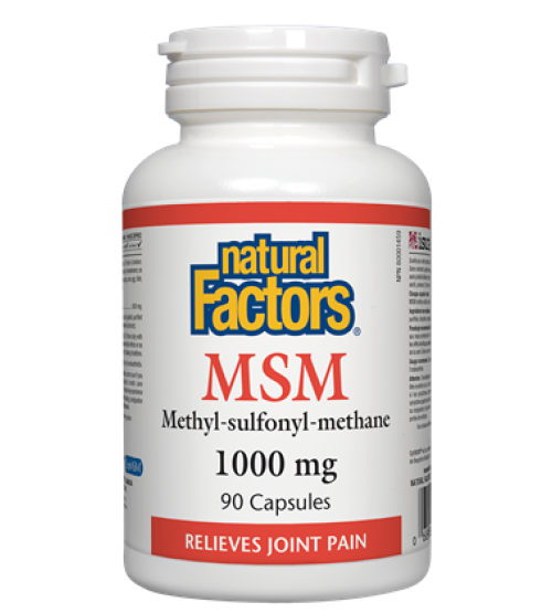 Natural Factors MSM 1000 mg 90 Capsules