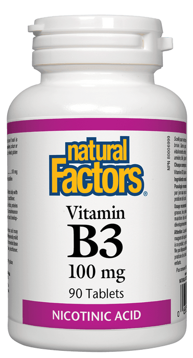 Natural Factors B3 Niacin 100 mg