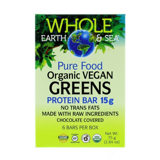 Whole Earth and Sea Pure Food Organic Vegan Greens Protein Bar