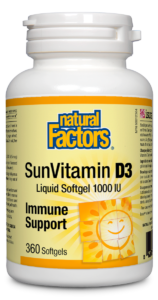 Natural Factors Vitamin D3 1000 IU, 360 Softgels