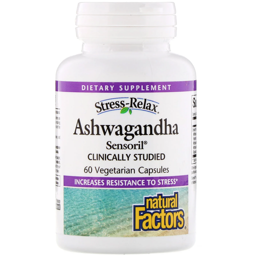 Natural Factors Stress-Relax Ashwagandha 60 Capsules