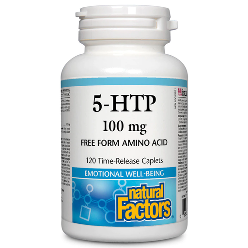 Natural Factors 5-HTP 100 mg Time-Release 120 Caplets