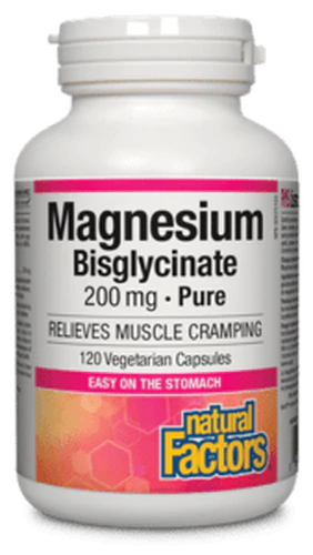 Natural Factors Magnesium Bisglycinate Pure 200 mg 120 Capsules