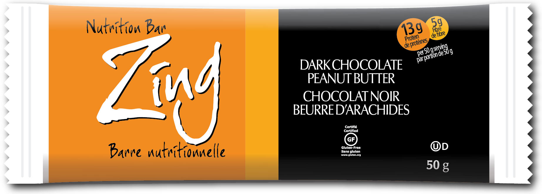 Zing Nutrition Bar - Dark Chocolate Peanut Butter