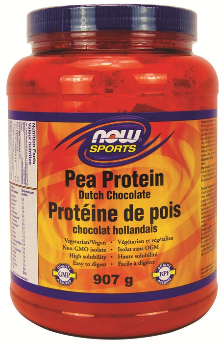 NOW Pea Protein Dutch Chocolate Powder