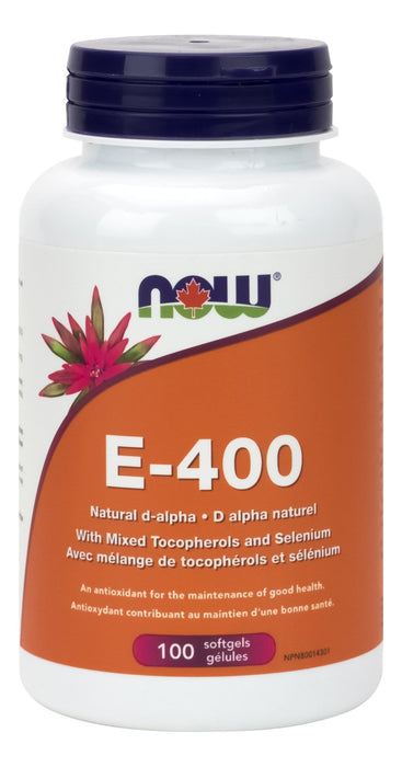 NOW E-400 + 20% Mixed & Selenium