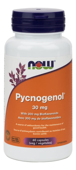 NOW Pycnogenol 30mg with Bioflavonoid