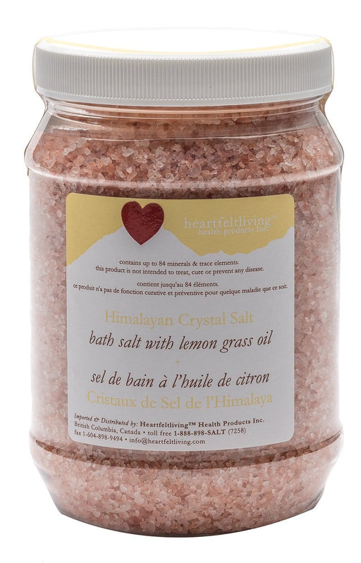 Heartfelt Living Himalayan Crystal Bath Salt - Lemon Grass