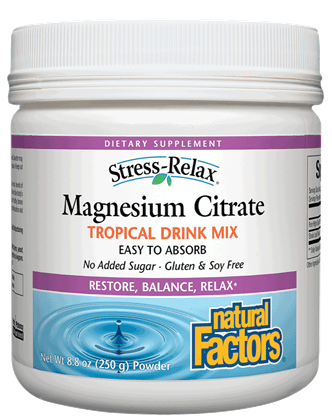 Natural Factors Magnesium Citrate 25g Powder - Tropical Flavour
