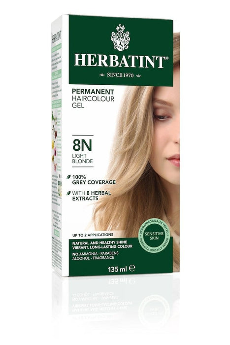 Herbatint Permanent Herbal Haircolor Gel - 8N Light Blonde