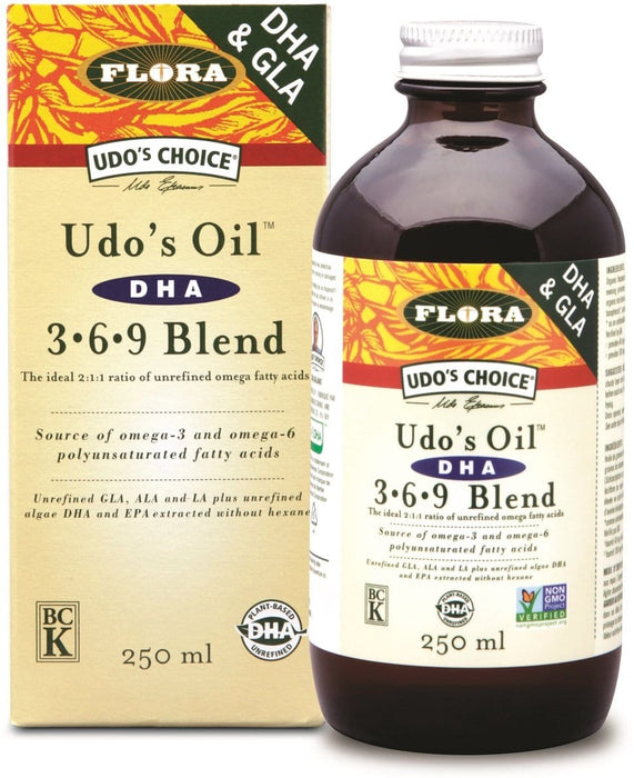 Flora Udo's Choice Udo's Oil Omega 3+6+9 Blend +DHA 250 ml