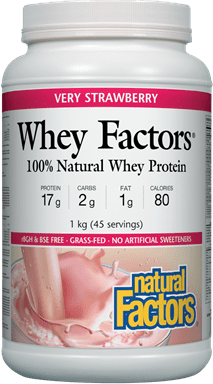 Natural Factors Whey Factors - Very Strawberry