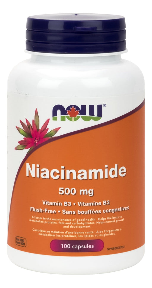 NOW Vitamin B-3 Niacinamide 500 mg 100 Capsules
