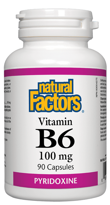 Natural Factors B6 100 mg 90 Capsules