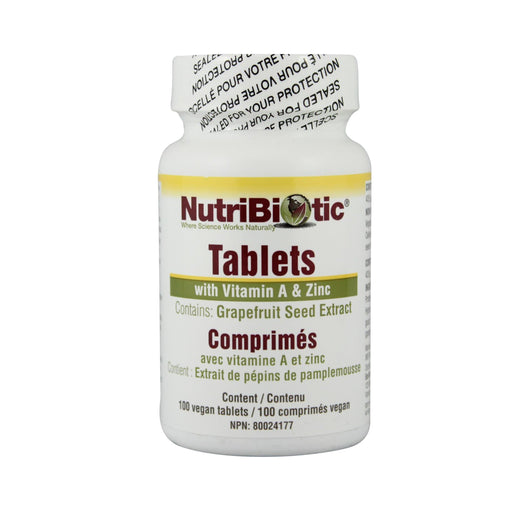 Nutribiotic Tablets GSE  125mg with Vitamin A & Zinc