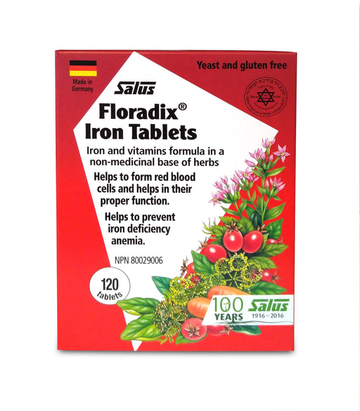 Salus Floradix Herbal Extract Iron 120 Tablets