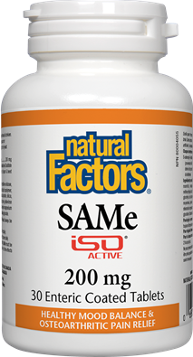 Natural Factors SAMe 200 mg 30 Tablets