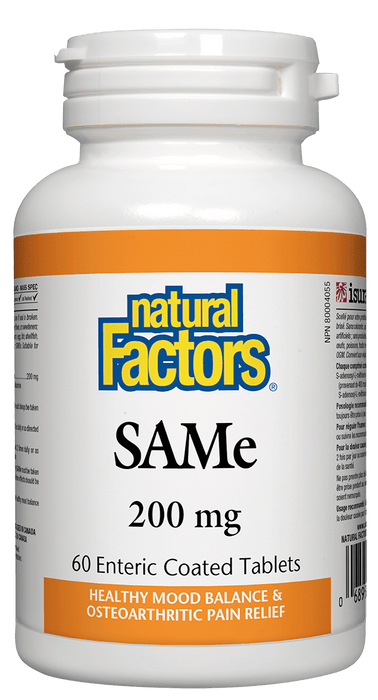 Natural Factors SAMe 200 mg 60 Tablets