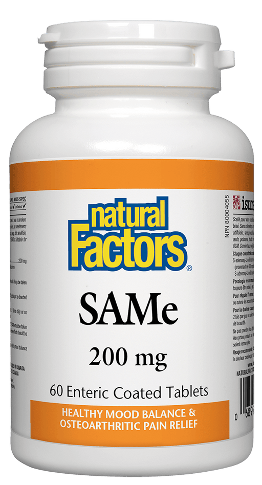 Natural Factors SAMe 200 mg