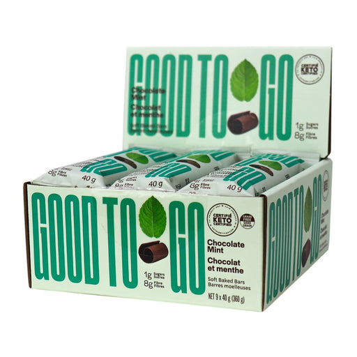 GoodTo Go Chocolate Mint Keto Bars 9x40 g