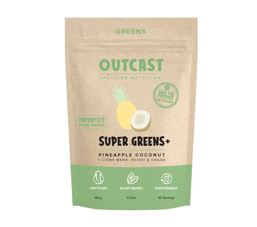 Outcast Super Greens+ 30 Servings, Pineapple Coconut