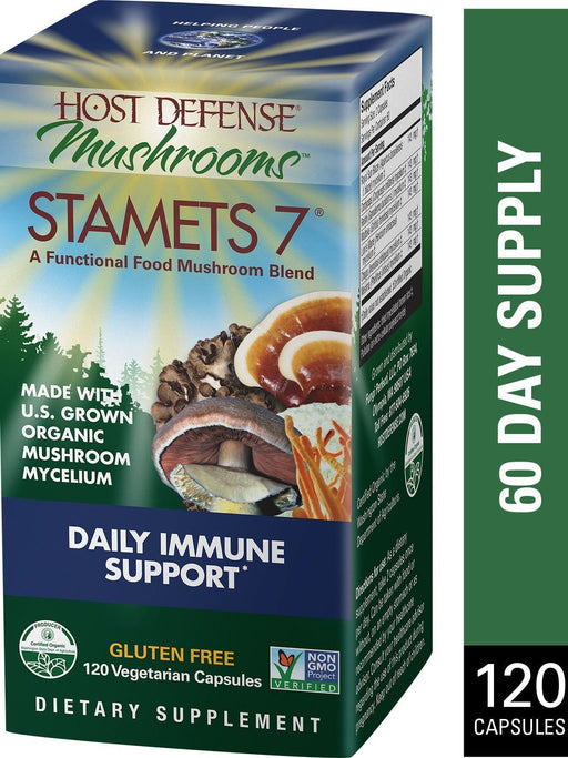 Host Defense Stamets 7 - Daily Immune Support 120 Capsules