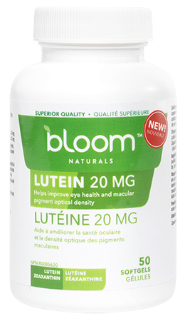 Bloom Naturals Lutein 20 mg 50 Softgels