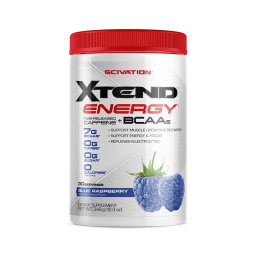 Scivation Xtend Energy Time-Released Caffeine + BCAAs Blue Raspberry 348 g