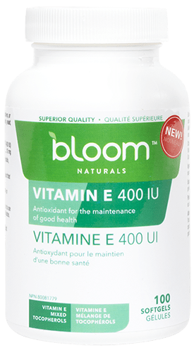 Bloom Naturals Vitamin E 400 IU 100 Softgels