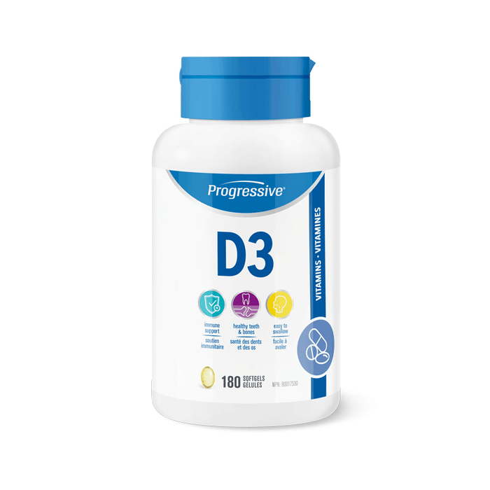 Progressive Vitamin D3 180 Softgels