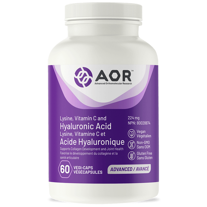 AOR Hyaluronic Acid with Lysine and Vitamin C 60 Capsules
