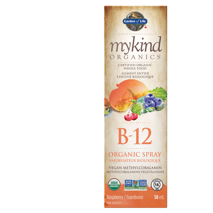 Garden of Life mykind Organics B-12 Organic Spray Raspberry