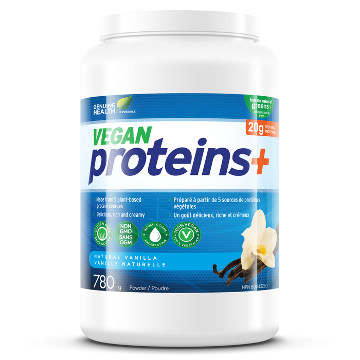 Genuine Health Vegan proteins+ Natural Vanilla