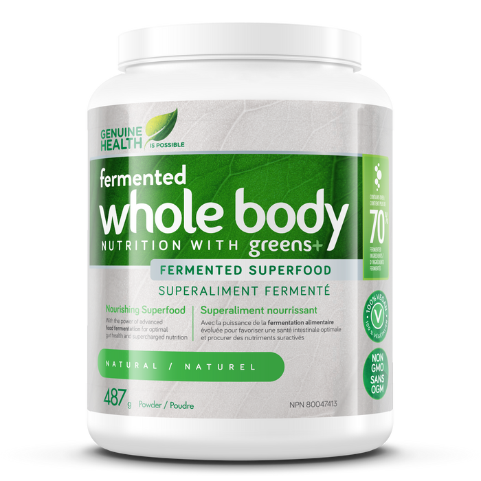 Genuine Health Greens+ Whole Body Nutrition - Natural