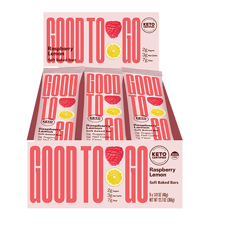 GoodTo Go Raspberry Lemon Keto Bars 9x40 g