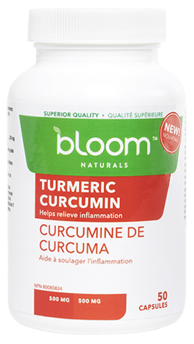 Bloom Naturals Turmeric Curcumin 500 mg 50 Capsules (Short Dated)