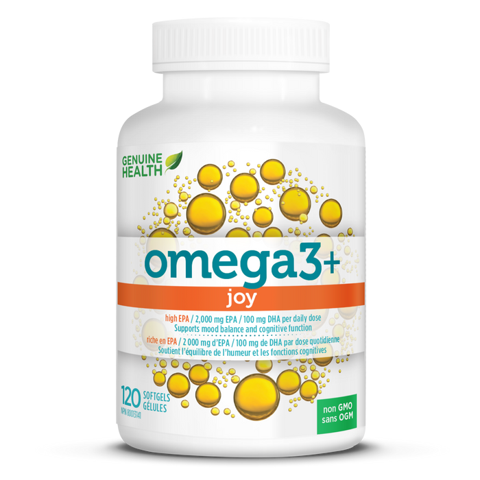 Genuine Health omega3+ joy 120 Softgels