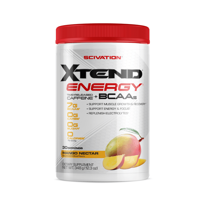 Scivation Xtend Energy Time-Released Caffeine + BCAAs Mango 348 g