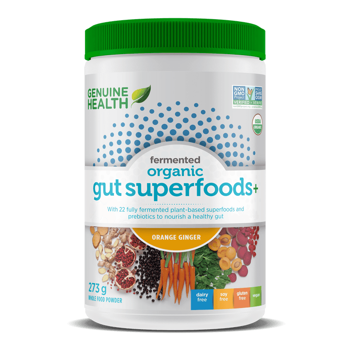 Genuine Health Fermented Organic Gut Superfoods+ Orange & Ginger