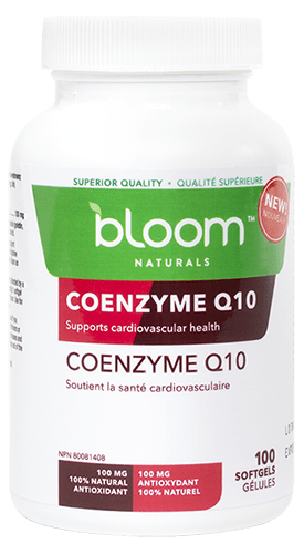 Bloom Naturals Coenzyme Q10 100 mg 100 Softgels