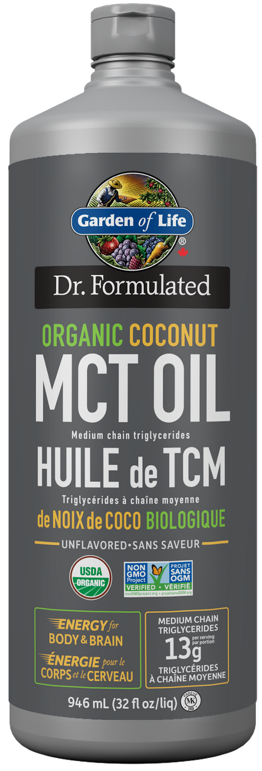 Garden of Life Dr. Formulated Organic Coconut MCT Oil 946ml