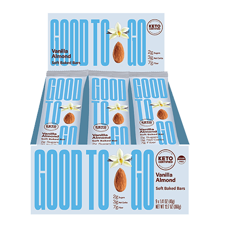 GoodTo Go Vanilla Almond Keto Bars 40 g Single Bar