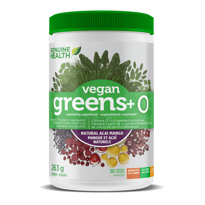 Genuine Health Vegan Greens+ O - acai & mango 263 g