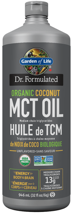 Garden of Life Dr. Formulated Organic Coconut MCT Oil 946ml (Short Dated)