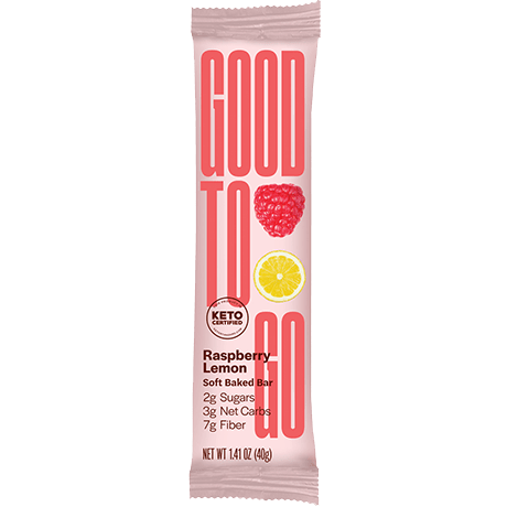 GoodTo Go Raspberry Lemon Keto Bars 40 g Single Bar