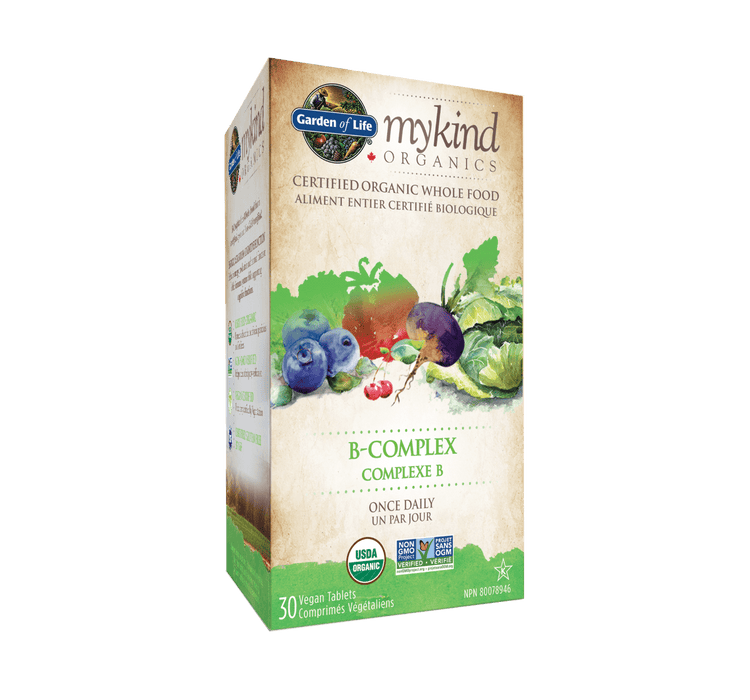 Garden of Life mykind Organics B-Complex Once Daily 30 Tablets